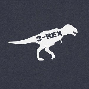 "Toddler ""3-REX"" Navy Shirt"